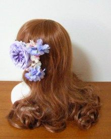パープル~ピンクのラウンドブーケ&ヘアパーツ♡ |Ordermade Wedding Flower Item MY FLOWER ♪ まゆこのブログ