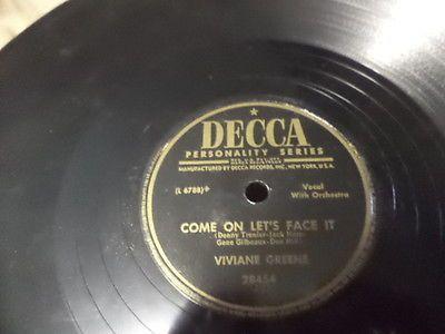 Decca-Jazz-78-VIVIANE-GREENE-Blues-Vocals