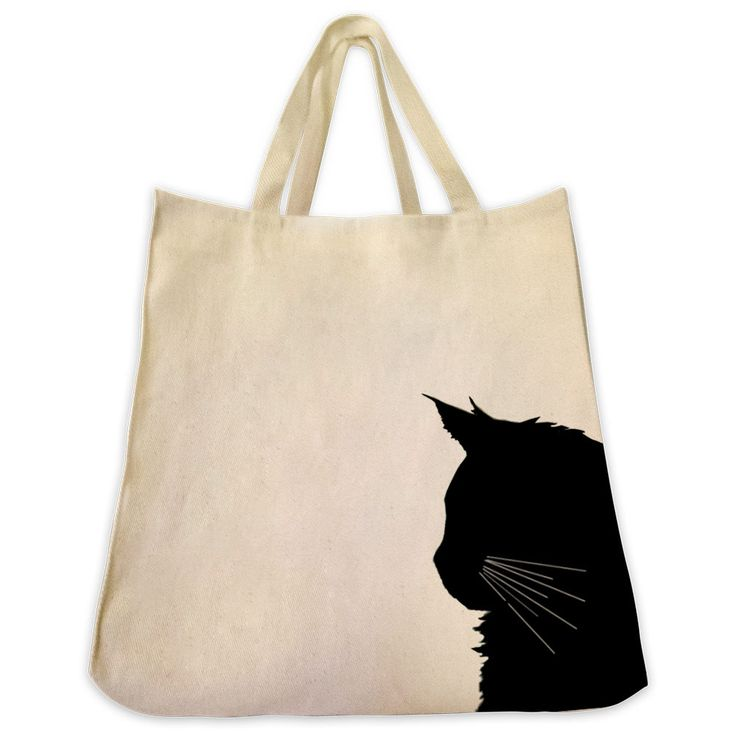 Maine Coon Cat Tote Bag - Silhouette Design