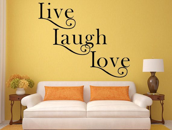 Live Laugh Love Wall Decal Inspirational by INSPIRATIONWALLSIGNS