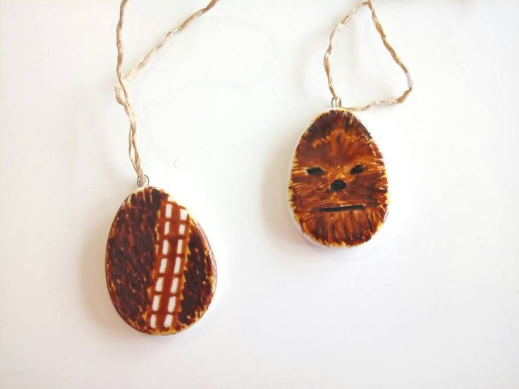 Star Wars Chewbecca Easter decoration (set of 2) Star Wars home decor, nerd/sci-fi decoration, Star Wars gift idea may the force be with you by HugMeShop on Etsy