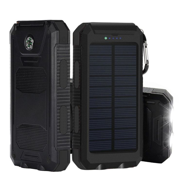 Solar Charger, iBeek Portable 10000mAh Dual USB Solar Battery Charger External Battery - Good Phone Chargers for a budget!