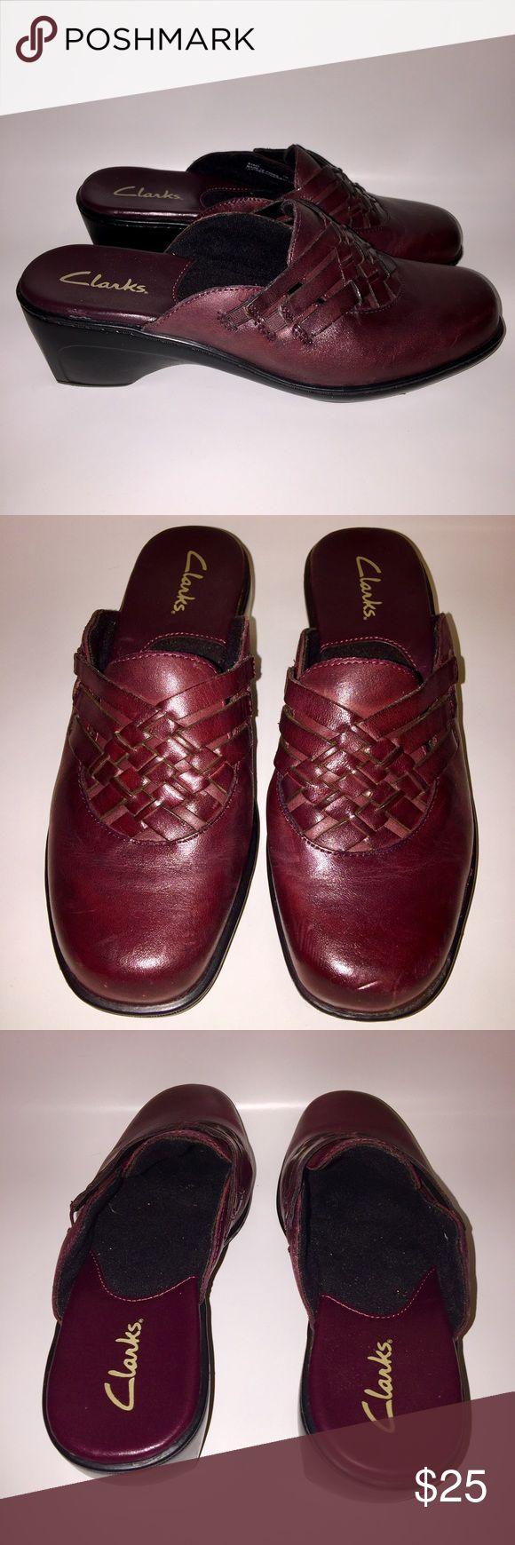 CLARKS WOMENS 7W SLIP ON MULE CLOG CLARKS WOMENS SLIP ON MULE CLOG 7W Clarks Shoes Mules & Clogs