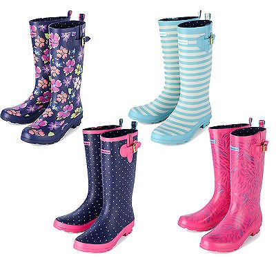 Womens Festival Wellies - Urban Beach Ladies Floral Wellington Boots