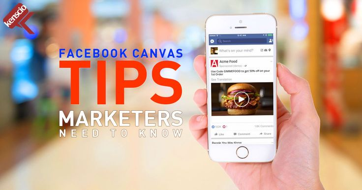 It's been a year since Facebook Canvas was introduced and many brands have trouble succeeding in the new medium. Here are some tips that are sure to help: https://www.clickz.com/6-critical-steps-to-succeeding-with-facebook-canvas/110462/ #FacebookCanvas ‪#‎FacebookAds‬ #FacebookMarketing #FBAds #FBCanvas #FBMarketing #Facebook #FB #FacebookAdvertisements #FBAdvertisements #FBAdvertisement #FacebookAdvertisement
