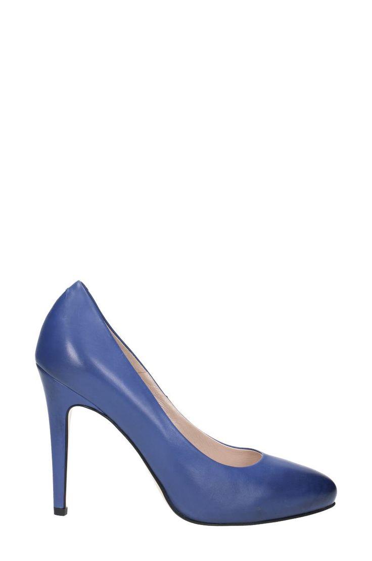 Symbol: DCG790-P11-4300-5300-0. Typ: Czółenka. Linia: LILIA. Kolor: niebieski. Materiał: skóra cielęca licowa. Obcas (cm): 9. Kolekcja: SALE. Producent: GINO ROSSI.
