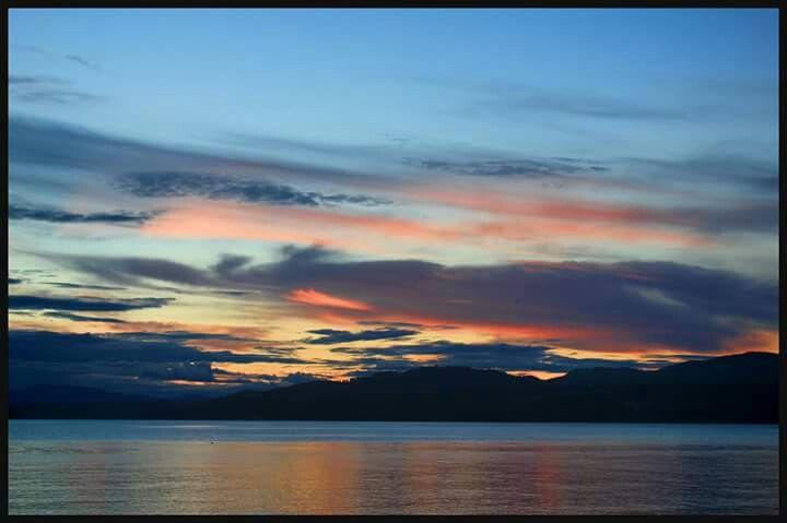 sunset in Davis bay area sechelt