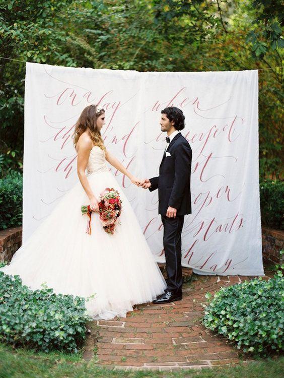 Kunstvolle Kalligrafie Für Die Hochzeit Mit Schönschrift