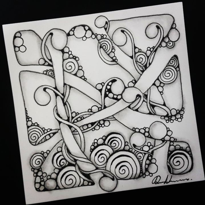 """258 Likes, 3 Comments - Rebecca Kuan CZT (@rebeccasecretbox) on Instagram: """"Zentangle - 061217. Artwork from Rebecca Kuan - #rebeccasecretbox Welcome to visit my FB Page:…"""""""