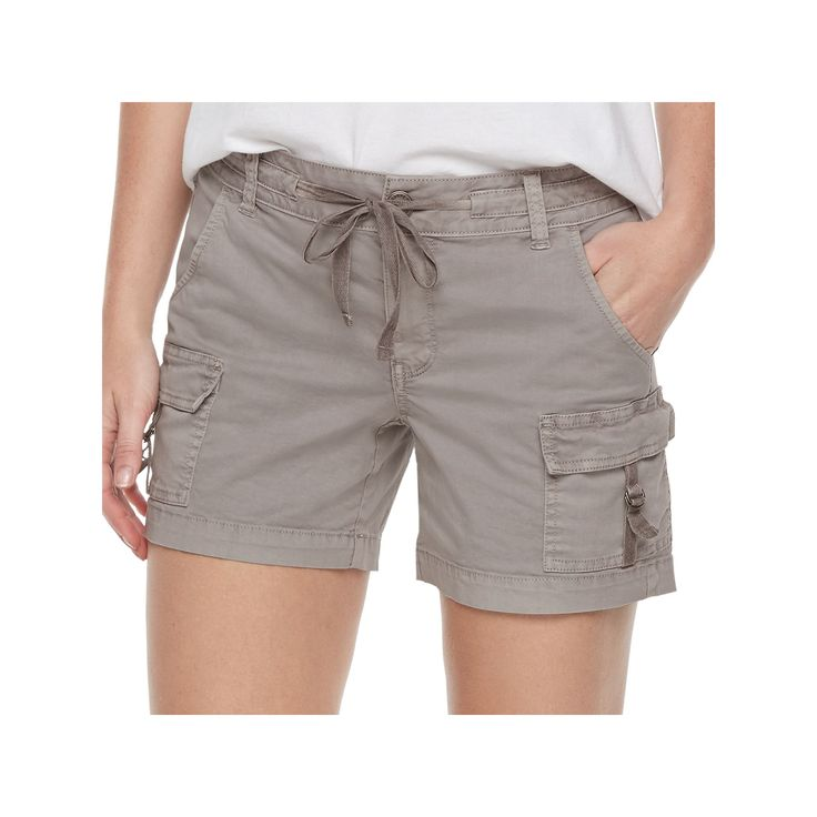 Women's SONOMA Goods for Life™ D-Ring Utility Shorts, Size: 10, Silver