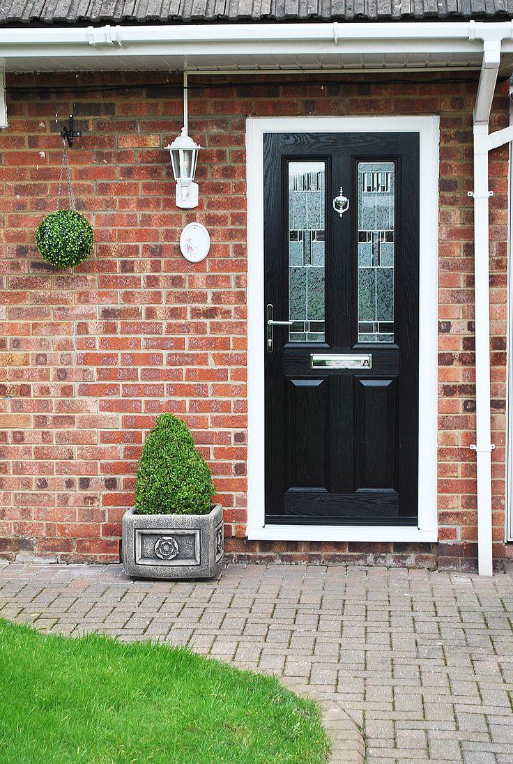Fenesta upvc doors windows glass flooring - Our Ever Popular Altmore Composite Door With The Modern Zinc Prairie Glass Design Within The
