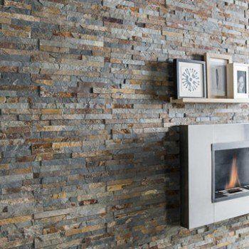 Plaquette de parement pierre naturelle multicolore Magrit | Leroy Merlin