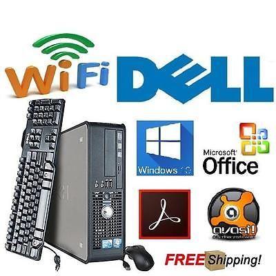 dell windows 10 pro desktop pc computer core 2 vpro 30ghz 8gb ddr3 1tb dvd