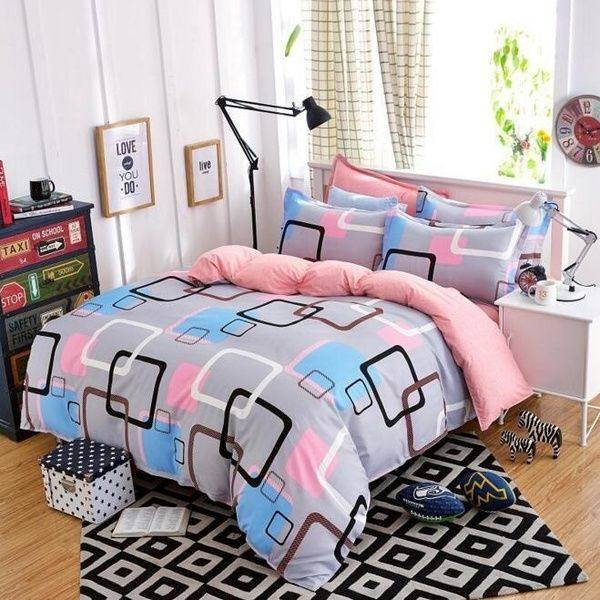 Modern Plaid Bedding Quilt Cover And Pillowcase Duvet Cover Set Cotton Twin Queen King Size Wish Bed Linen Design Linen Bed Sheets Duvet Covers