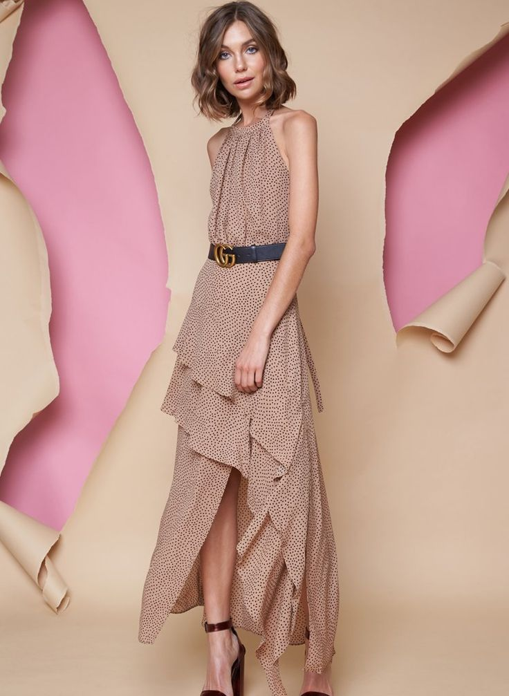 Pink Stitch - Ps The Label High Society Dress - Toffee Spot