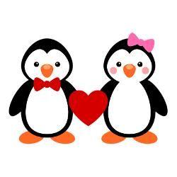 Cute Penguin Couple Drawing Google Search Casamento