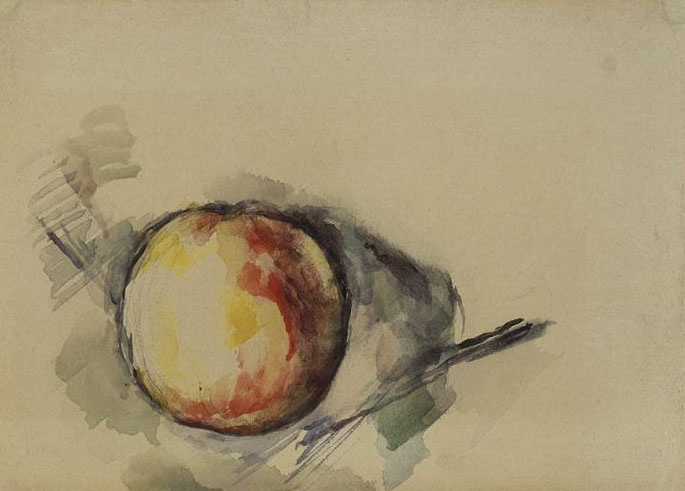 Cézanne watercolor still life study