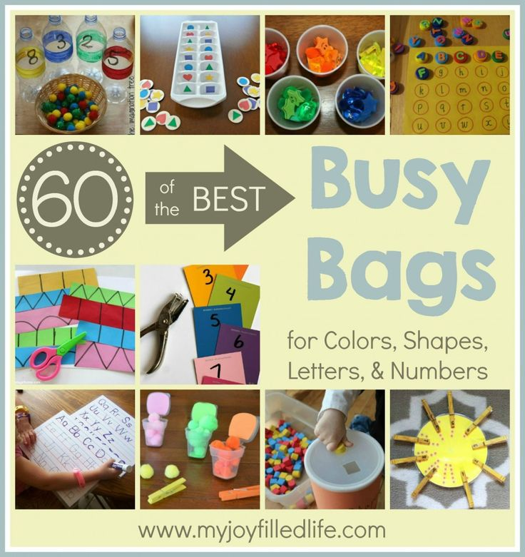 60 of the Best Busy Bags for Colors, Shapes, Letters, and Numbers