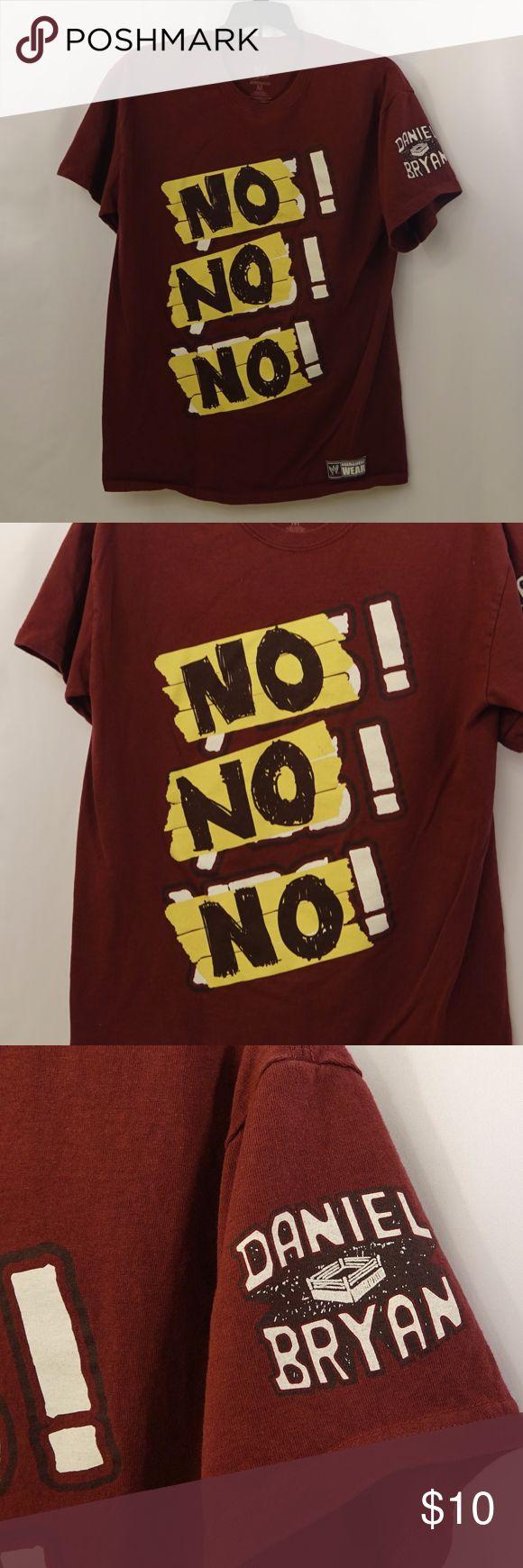 Medium WWE Daniel Bryan No! Burgundy Shirt Pre-owned - missing tag  WWE Daniel Bryan NO! NO! NO!   Medium WWE Shirts Tees - Short Sleeve