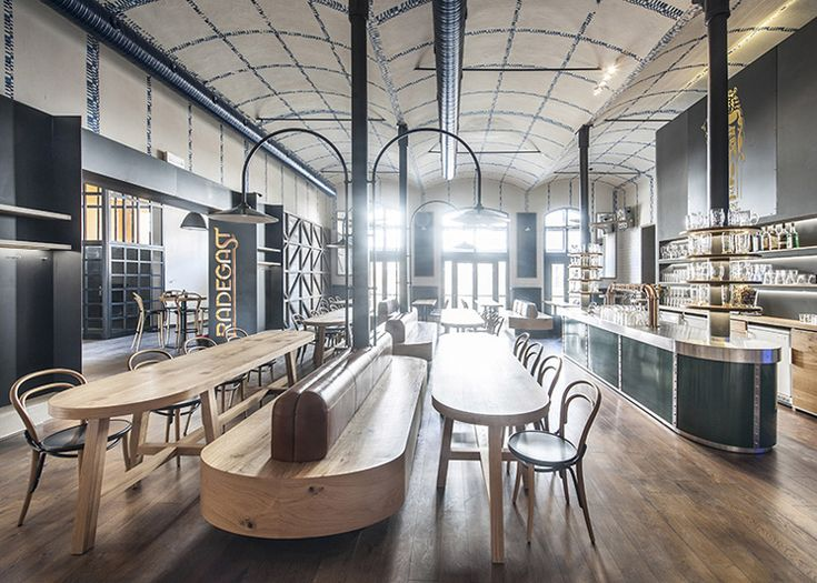 IO Studio References Czech Porcelain Inside Modern Beer Hall