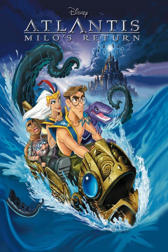 Atlantis: Milo's Return Movie Poster - James Arnold Taylor, Cree Summer, John Mahoney  #Atlantis, #MilosReturn, #MoviePoster, #KidsFamily, #TadStones, #TobySheltonVictorA, #Cook, #CreeSummer, #JamesArnoldTaylor, #JohnMahoney
