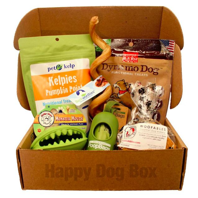 New Dog Subscription Box Happy Dog Box First Month Free
