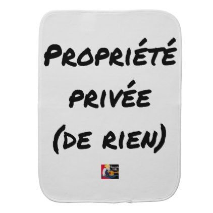 PRIVATE PROPERTY - Word games - François City Burp Cloth - valentines day gifts love couple gift idea my love valentine