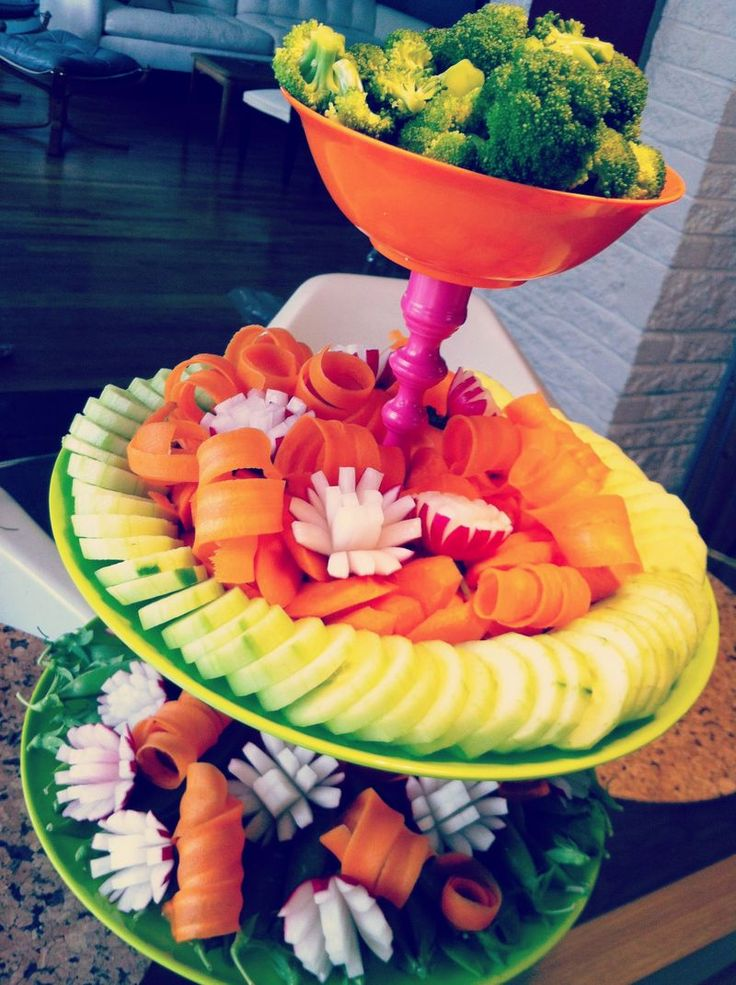 Oh The Places You'll Go - DIY Cake Plates and Dr. Seuss Inspired Veggie Tower