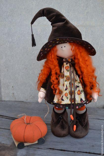 Хеллоуин - коричневый,кукла ручной работы,кукла,кукла в подарок,кукла интерьерная