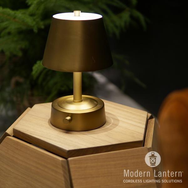 Mini Metal Cordless Lamp Antique Brass In 2021 Cordless Lamps Lamp Metal Lamp Shade
