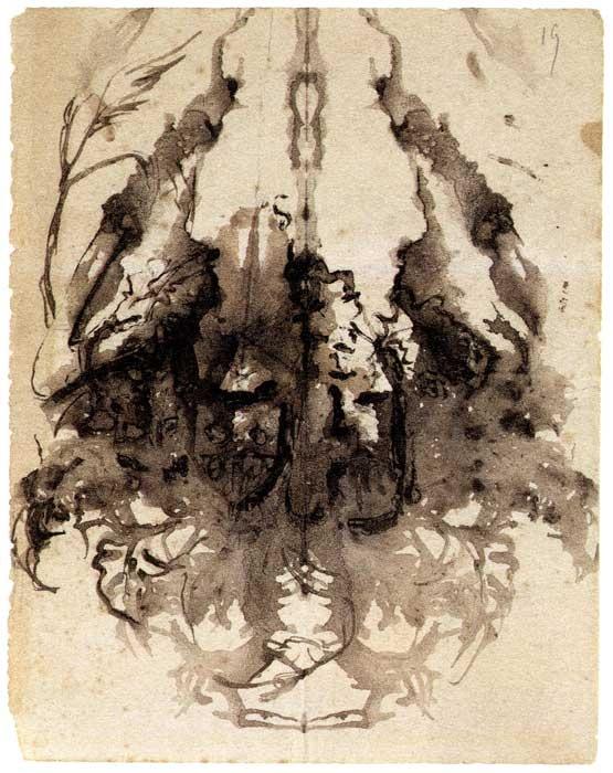 Victor Hugo inkblot art