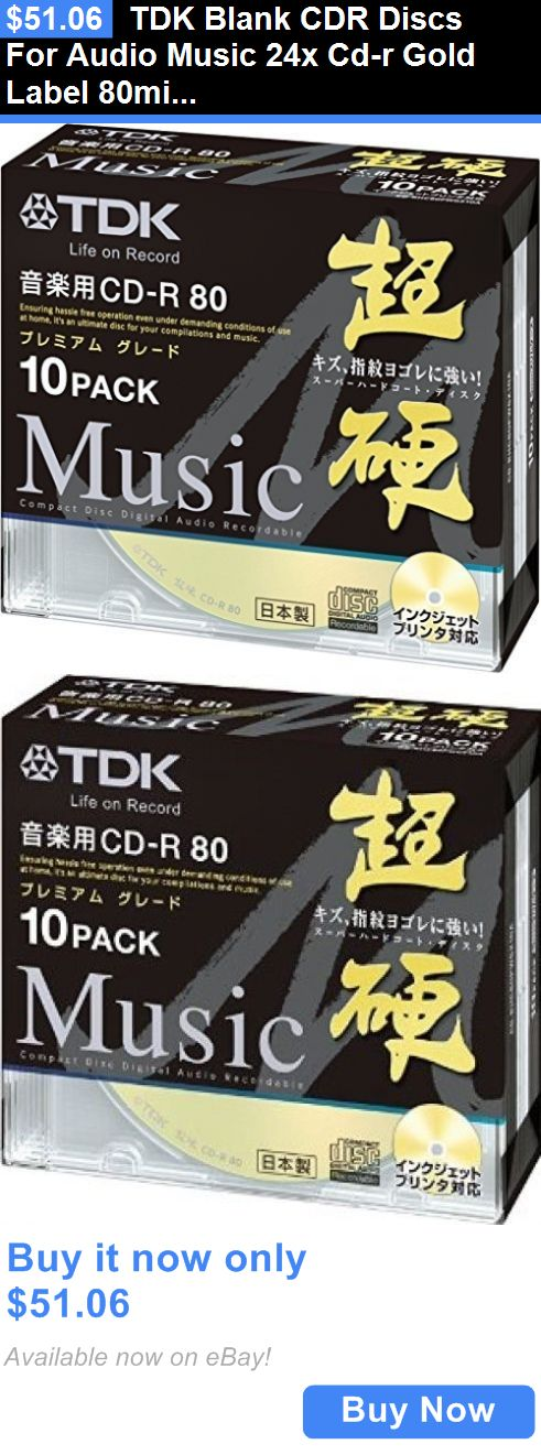 CD DVD and Blu-ray Discs: Tdk Blank Cdr Discs For Audio Music 24X Cd-R Gold Label 80Min Japan BUY IT NOW ONLY: $51.06