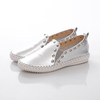 Women's Shoes Comfort Round Toe Flat Heel Leather Loafers Shoes More Colors available – AUD $ 47.94