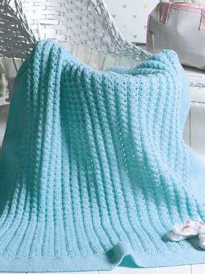 Free Textured Afghan Knitting Patterns - Bundle of Joy