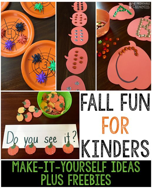 Bring fall fun in to your classroom! Includes easy peasy DIY projects that you can make yourself. Perfect for Kindergarten.
