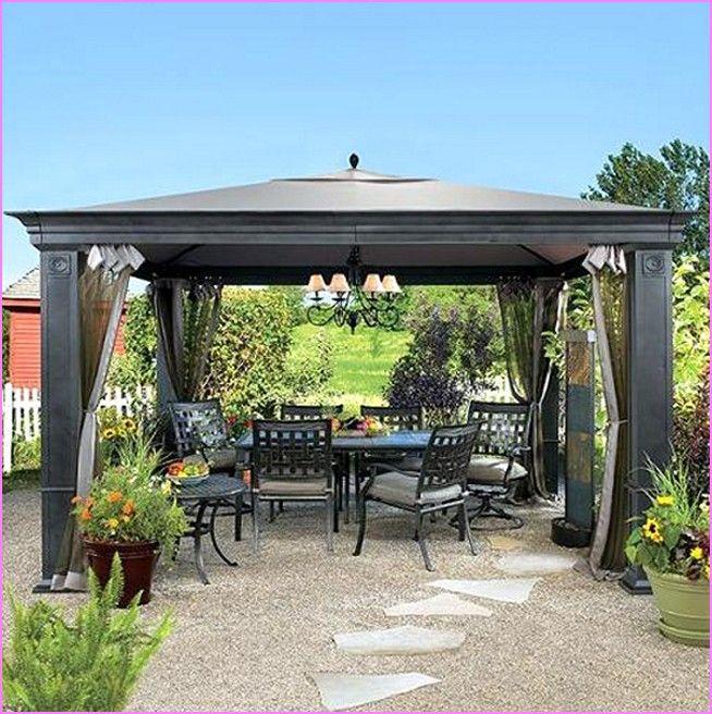 Patio Canopy, Backyard Gazebo, Patio Gazebo, Wooden Gazebo Kits, Portable  Gazebo, Home Landscaping, Home Decor Ideas, Terrace, Tv