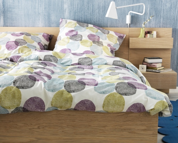Malin rund duvet cover and pillowcase s multicolor for Ikea comforter duvet cover