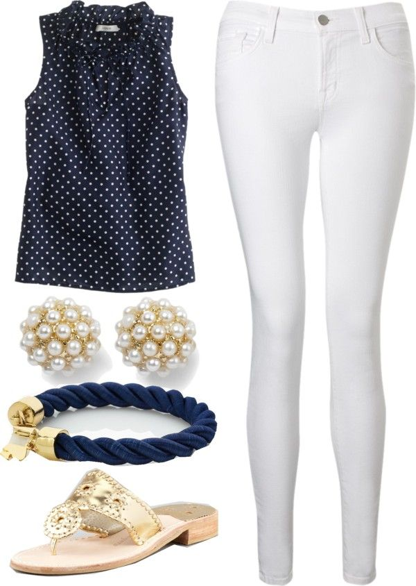 """""""Preppy Summer Outfit"""" by elizabethandre ❤ liked on Polyvore"""