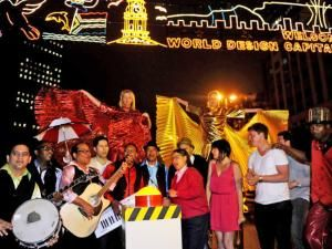 AfrodizzyActs helping the Mayor of Cape Town, Patricia de Lille turn on Cape Town's Christmas lights!