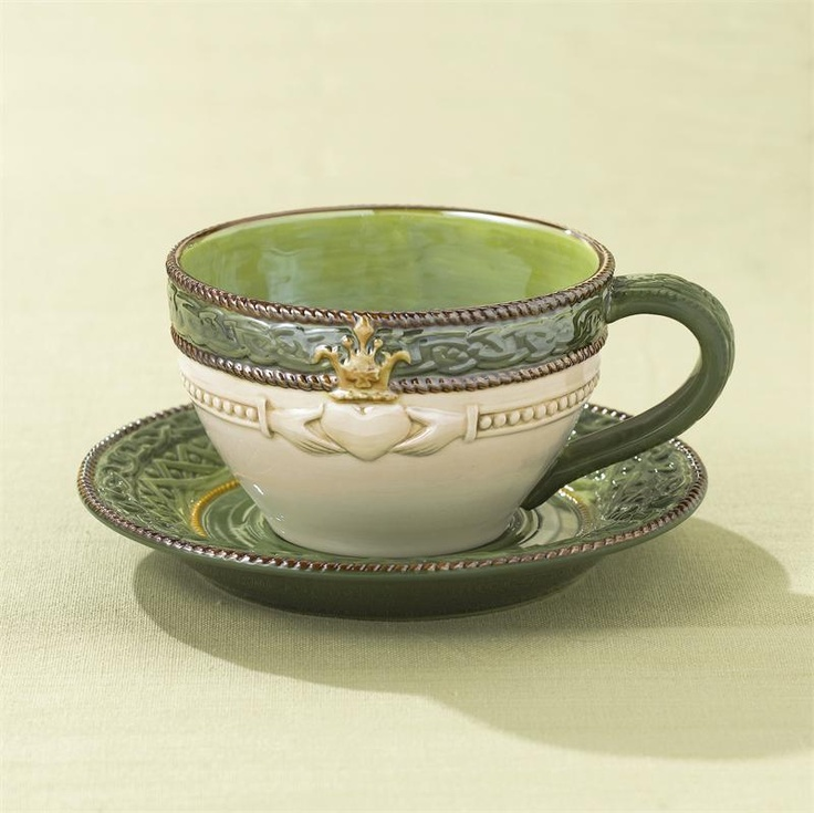 Celtic Tea Cup & Saucer with Irish Blesing