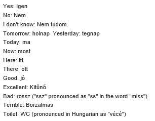 Basic Words | Magyar