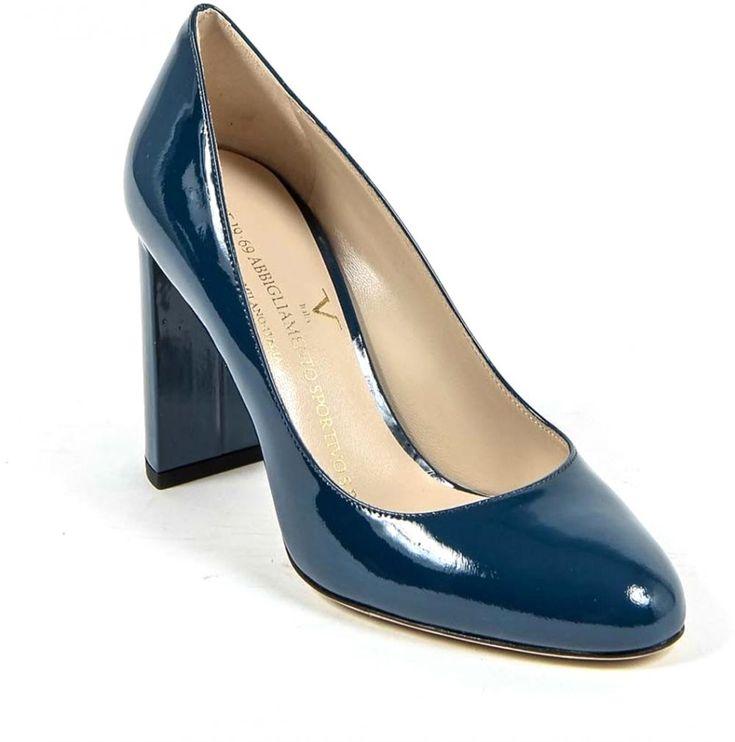 Buy Versace Italia Blue Heel For Women - Casual & Dress Shoes | KSA | Souq