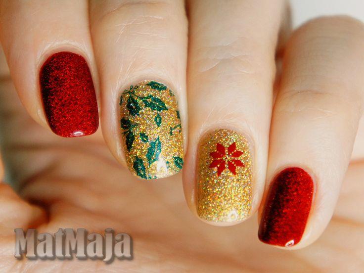 Xmas nails, Christmas nails https://matmajowe.blogspot.com/2016/12/happy-christmas.html