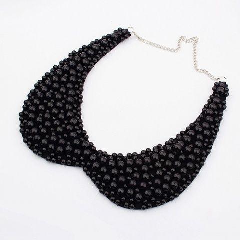 Naszyjnik choker czarne perły