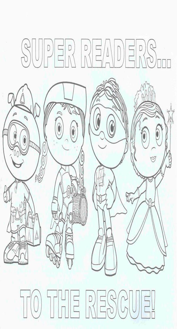 free super why coloring book pages
