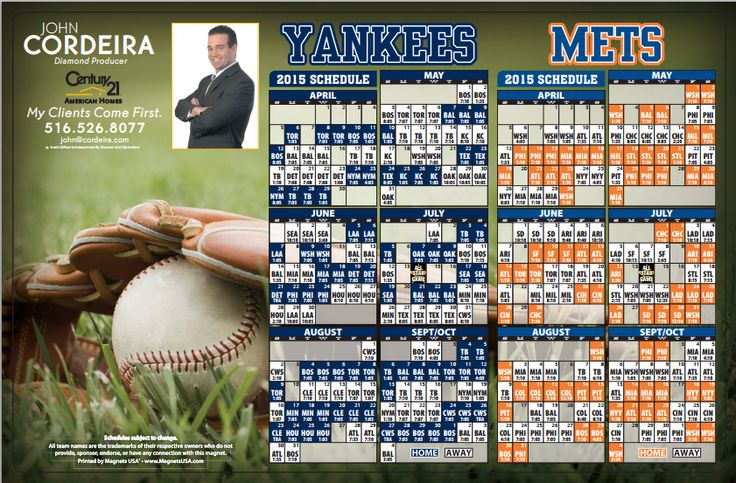 2015 Mets and Yankees Schedule - http://www.johncordeira.com/2015-mets-and-yankees-schedule/