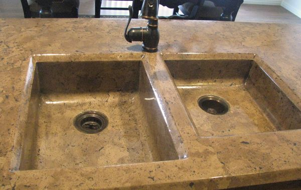 Nice Color for Concrete Countertop + One-Piece Sink/Counter ...