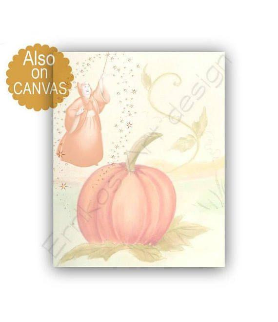 Princess Cinderella Pumpkin Print Cinderella's Fairy