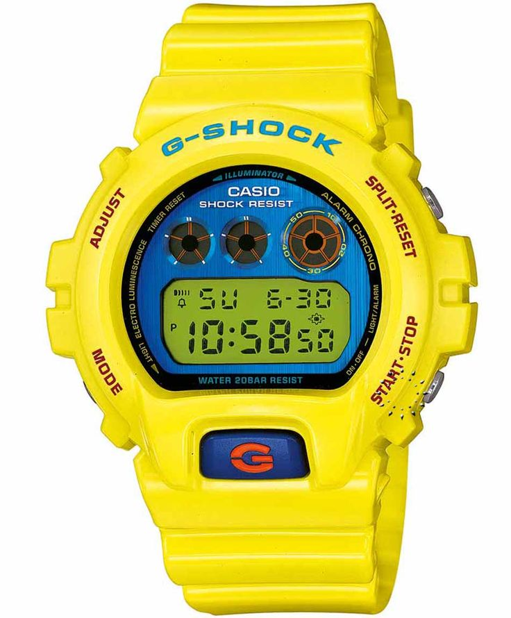 CASIO G-SHOCK Digital Yellow Rubber Strap Μοντέλο: DW-6900PL-9ER Η τιμή μας: 118€ http://www.oroloi.gr/product_info.php?products_id=32876