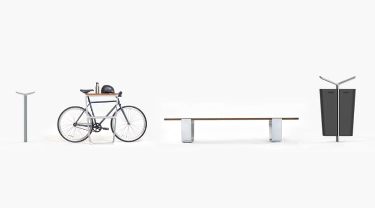 fuseproject designs flat-pack outdoor public furniture system for landscape forms
